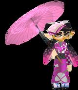 Callie in a Kimono W.Umbrella