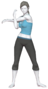 0.4.Female Wii Fit Trainer Stretching her shoulders