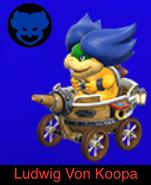 Ludwig Von Koopa in Mario Kart 9