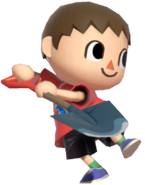 0.5.Red Villager preparing to use his Shovel