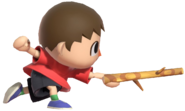 0.16.Red Villager stabbing with a Stick