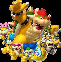 Bowser and Koopalings Artwork - Mario Party Diamond Blast