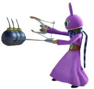 0.2.Ravio Holding preparing to shoot bombs