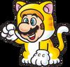 Cat Mario 2D Art Shaded