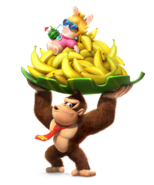 Donkey Kong & Rabbid Peach - Mario + Rabbids Kingdom Battle