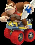 Donkey Kong With Winged Spiny Shell - Mario Kart 7 Artwork