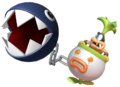 2.5.Iggy Koopa being pulled by a Chain Chomp