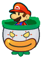 Paper Mario in Koopa Clown Car