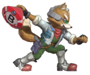 1.5.Fox preparing to throw a Smart Bomb