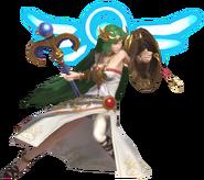 0.5.Palutena bashing with her Shield