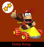 Diddy Kong in Mario Kart 9