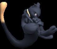 0.4.Shadow Mewtwo floating