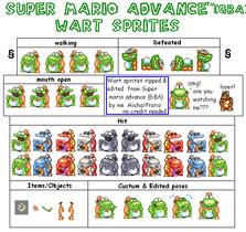 Wart Sprites (Mario Advance)