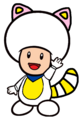 2D White Tanooki Blue Toad
