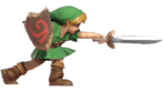 1.3.Young Link thrusting his Sword forward