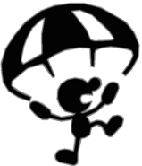0.12.Mr. Game and Watch Parachuting