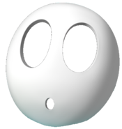 A shy guy mask