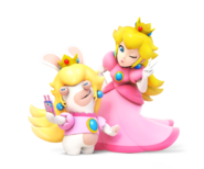 Rabbid n Peach - RabbidsKingdomBattle