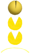 0.5.Pac-Man Bouncing off a Yellow Trampoline