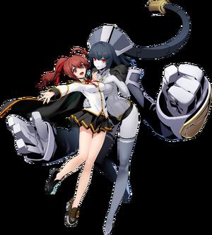 Celica Ayatsuki Mercury (BlazBlue Cross Tag Battle, Character Select Artwork).png