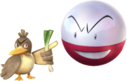 Pokken Farfetchd and Electrode