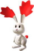 Red Chasing Star Bunny