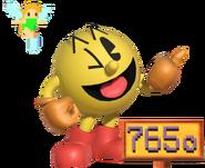 0.11.Pac-Man behind a sighn