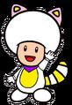 2D White Tanooki Purple Toad