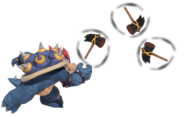 2.4.Blue Bowser throwing Hammers