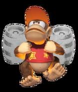 1.12.Diddy Kong preparing his Silver Rocket Barrel Pack