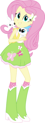 Equestria girls fluttershy vector by icantunloveyou-d9olxh6.png