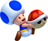 Blue Toad Artwork - New Super Luigi U