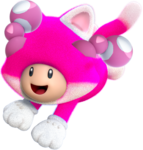 Cat Toadette Artwork - Super Mario Crystalline World