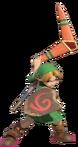 1.9.Young Link preparing his Boomerang