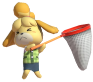 0.16.Isabelle holding a net