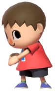 0.6.Red Villager stuffing something in his pocket