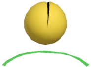 0.3.Pac-Man Bouncing off a Green Trampoline