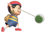 0.9.Ness swing his Yo-Yo forward