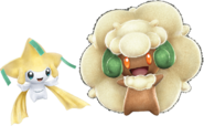 Pokken Jirachi and Whimsicott