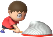 0.8.Red Villager caught something