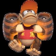1.10.Diddy Kong preparing his Rocket Barrel Pack