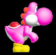 Pink YoshiSMWWii