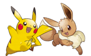 Pikachu and Eevee - Pokemon Let's Go