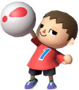 0.10.Red Villager Holding a Pitfall