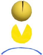 0.4.Pac-Man Bouncing off a Blue Trampoline