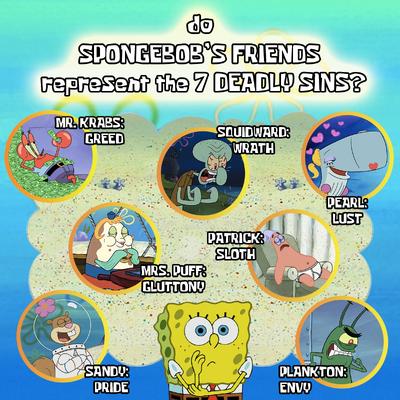Do SpongeBob SquarePants' Friends Represent The 7 Deadly Sins Fan Theory Seven Sins Full.png