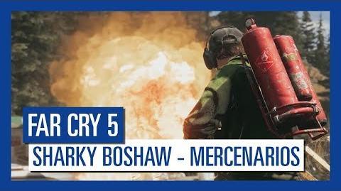 Far Cry 5 Sharky Boshaw – Mercenarios Personaje destacado