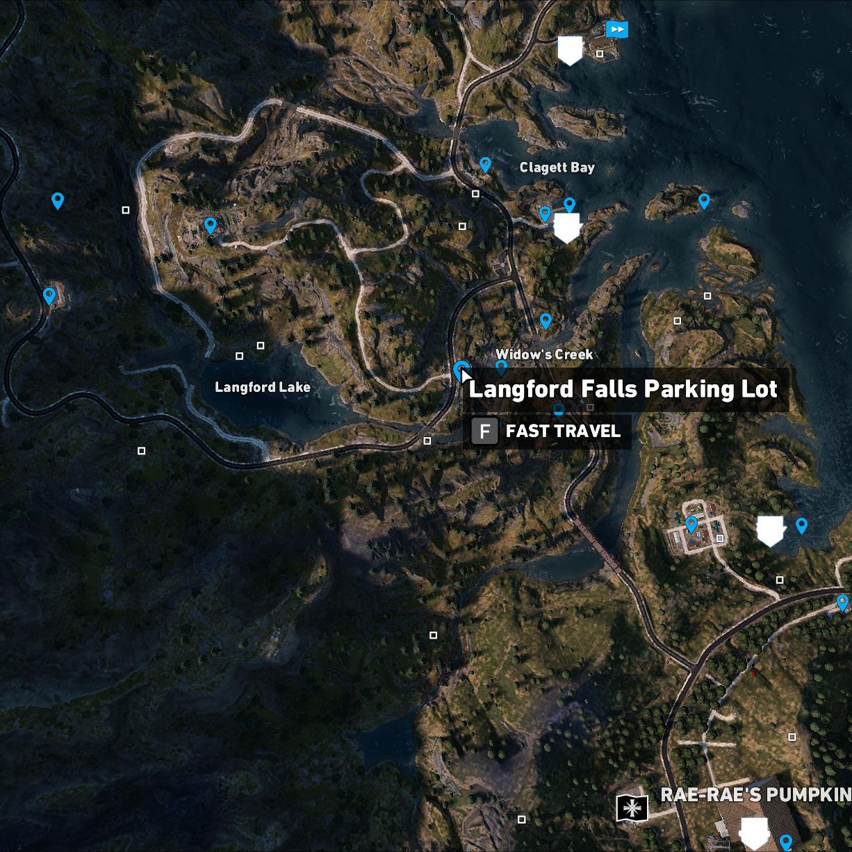 Langford Falls Parking Lot