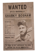 Sharky Wanted Poster