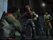 Mutant Krieger, confronting Jack